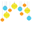 pixel art christmas tree ball flat composition vector image vector image