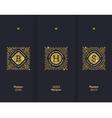 Premium design glitter gold monograms vector image vector image