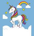 pretty unicorn card vector image