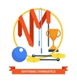 Rhythmics Gymnastic Concept vector image