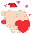 Romantic Cupid With Heart vector image vector image