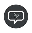 Round dialog atom icon vector image vector image
