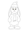 Santa Claus rabbit vector image vector image