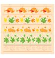 seamless autumn ornaments with maple leaves vector image vector image