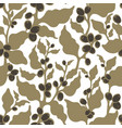 seamless nature pattern coffee plantation harvest vector image vector image