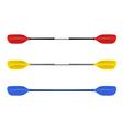 Set Professional canoe oars vector image vector image