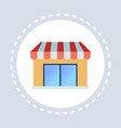 shop store storefront or supermarket shopping icon vector image