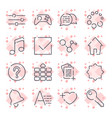 simple universal icons different icons for apps vector image vector image