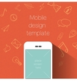 Social media communication background vector image vector image