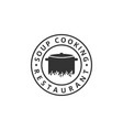 soup cooking logo design template vector image vector image
