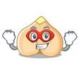 super hero chickpeas character cartoon style vector image vector image