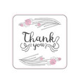 thank you handwritten inscription design element vector image vector image