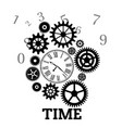 Time clock gears cog background image vector image