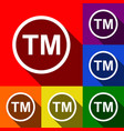 trade mark sign set icons with flat vector image vector image