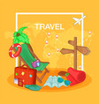 travel concept route cartoon style vector image