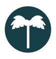 tree palm silhouette icon vector image vector image