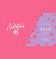 valentines day sale poster or banner valentine vector image vector image