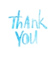 Watercolor abstrakt thank you lettering vector image vector image