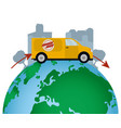 worlwide delivery service vector image vector image