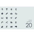 Set of Australia icons vector image