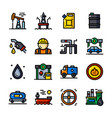 thin line oil industry icons vector image