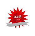 big sale icon banner red star design vector image