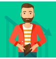 Bancrupt business man vector image vector image