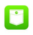 black pocket symbol icon digital green vector image