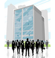 business center and business people vector image