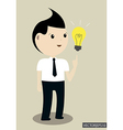 Businessman get the idea vector image vector image