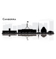 canberra australia city skyline silhouette with vector image vector image