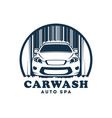 car wash service icon with replaceable text vector image vector image