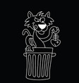 cartoon cat scavenging vector image vector image