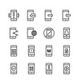 cell phone icon set vector image vector image