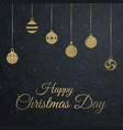 chrismtas card with dark pattern background vector image vector image