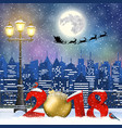 christmas winter cityscape vector image vector image