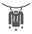 clothes drying glyph icon laundry and vector image vector image