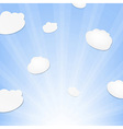 Cloud And Sunburst vector image vector image