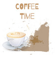 coffee cappuccino background or banner flayer vector image vector image