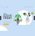 concept shopping theme black friday online sale vector image vector image