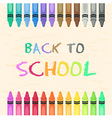 Crayons Set Back to School vector image vector image