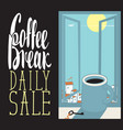 daily coffee cup vector image vector image
