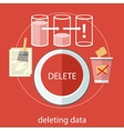 Deleting data vector image