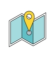 Delivery Map Location Pin Design Flat vector image vector image