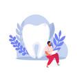 dental health icon vector image vector image