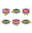 Emblem sale discount super offer favorable price vector image