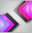 geometric modern background with flare texture vector image vector image