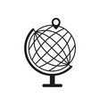 globe with pin icon vector image vector image