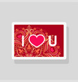 greeting card i love you on mandala background vector image vector image