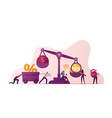 group business people characters near huge vector image vector image